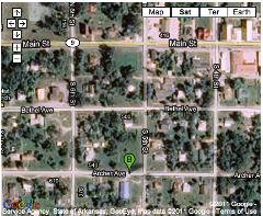 Google Satellite Map of Mammoth Spring Campus